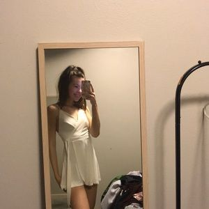 Soft white unworn UO romper